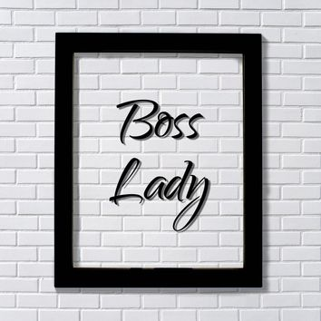 Boss Lady - Office Decor - Workplace Sign - Gift for Female Boss Supervisor Woman Owned Business