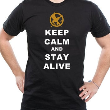 Hunger Games Stay Alive Shirt  Black by kebullock on Etsy
