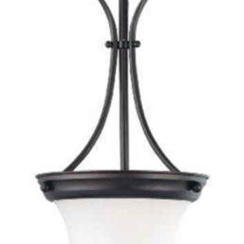 """Nuvo 60-3364 - 10"""" Pendant Light in Mahogany Bronze Finish with Frosted Glass"""