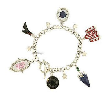 Licensed cool NEW Disney Store MARY POPPINS BROADWAY MUSICAL 6 Pendant Charm Bracelet Set NIB