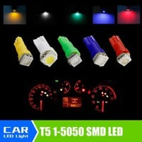 20pcs/lot Car Interior LED light T5 1 SMD 5050 led Dashboard Car Vehicle Light Bulb Yellow/Blue/green/red/white car light source