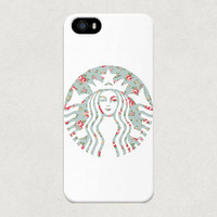 Starbucks Logo New Floral iPhone 4 4s 5 5s 5C Samsung Galaxy S4 S5 Case
