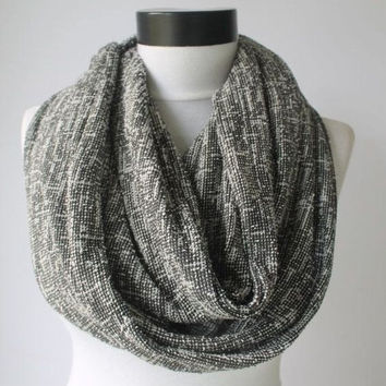 gray mesh scarf,long scarf,scarves,infinity scarf,scarf,