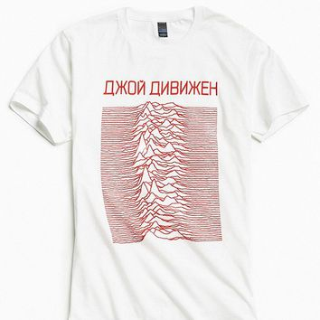 Joy Division Unknown Pleasures Tee | Urban Outfitters