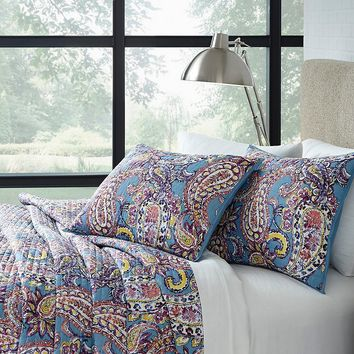 Studio D Back to Campus Duffy Paisley Quilt Mini Set with Mesh Laundry Hamper | Dillards