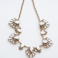 Lana White Crystal Statement Necklace