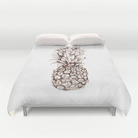 Pineapple Duvet Cover by Turn North Press