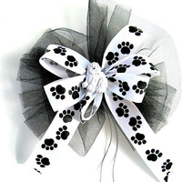 Dog gift hair bow, Dog bow, Dog Hair Accessory, Special occasion dog bow, Man's best friend, Dog collar decoration (DC20)