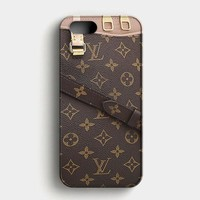 Louis Vuitton Pallas Monogram Canvas Handbags iPhone SE Case