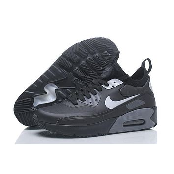 nike air max 90 ultra mid winter black grey men running shoes sneaker 924458 300 002