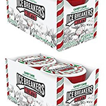 ICE BREAKERS Holiday Mints, Candy Cane Flavor, 1.5 Ounce (Pack of 8) 2 Packs
