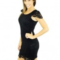 Short Black Crochet Dress