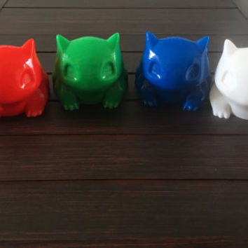 Bulbasaur Planter Large , Planter , Pokemon , Bulbasaur , 3D printed, Cute, Monster, Geekery, Home & Garden,Indoor Plant,Succulent,Glass