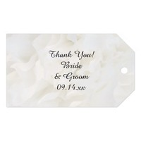 White Floral Wedding Favor Tags