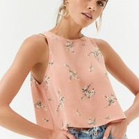 Floral Cherry Blossom Crop Top