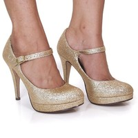 Delicious Womens Tie-H Mary-Jane Pumps-Shoes