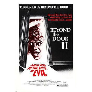 "BEYOND THE DOOR II HORROR POSTER ""new look for face of evil"" 24X36"
