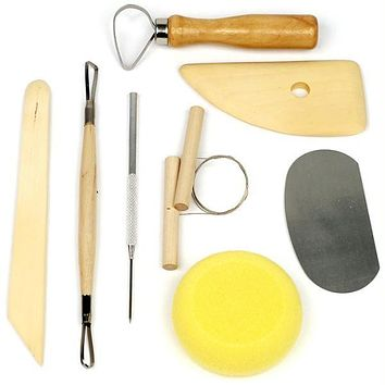 Stalwart  8 Piece Pottery & Clay Modelling Tool Sculp