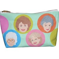 Golden Girls Pop Zipper Pouch and Makeup Bag – Illustrated and Handmade in the USA