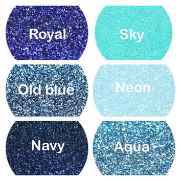 GLITTER Apparel vinyl, sheet, heat transfer, glitter vinyl, iron on 20x12 inch sheets, Blue, Navy, Aqua, Neon, Royal Blue, Glitter, Rolls