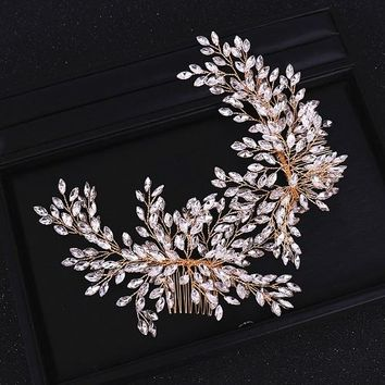 Rhinestone Hair Comb Bridal Headband
