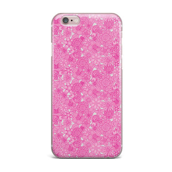 "Julia Grifol ""Welcome Birds To My Pink Garden"" iPhone Case"