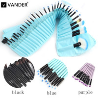 32pcs makeup professional Eyeshadow Lip Kit Brush Set pincel