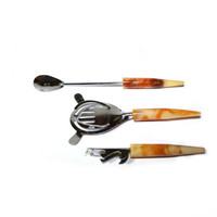 Barware Set Bar Set Bakelite Bar Tools Amber Barware Amber Bar Set Mid Century Modern Bar Set