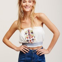 Free People Strawberry Fields Embroidered Top