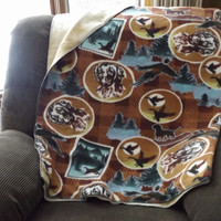 Bird Hunting Print Double Layer Fleece Blanket or Throw, 2 Layer, Lap Blanket, Stadium Blanket