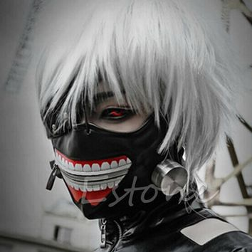 Cool Cosplay Halloween Party Adjustable Zipper Prop Mask