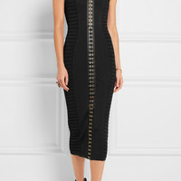 Balmain - Ribbed stretch-knit midi dress