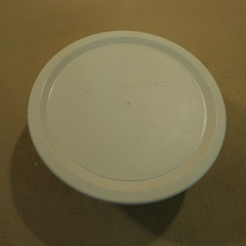 Corning Ware Round Stoneware 16-oz With Lid French White 473 mL -- Used