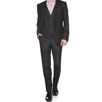 BOSS Black Man Three-Piece Slim Fit Wool Suit