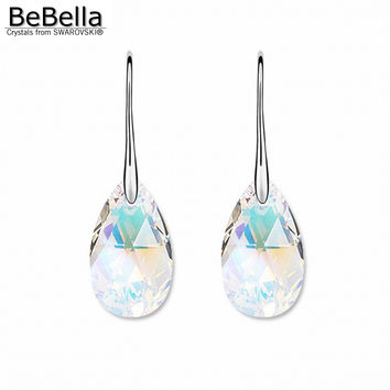 2016 New trendy pear shaped crystal pendant earrings Made with SWAROVSKI ELEMENTS gift for women Mother's Day gift