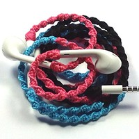 Handmade Wrapped Tangle-Free Earbuds | Bejewel| Genuine iPhone EarPods