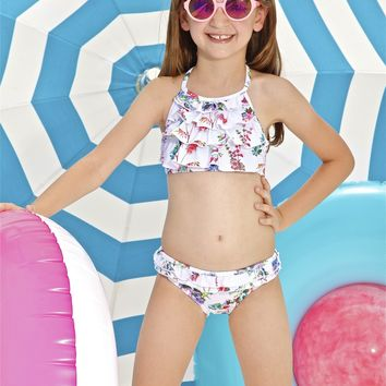 Peixoto Kids Grace Bikini Set - Botanical Bliss