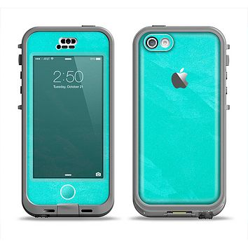 The Subtle Neon Turquoise Surface Apple iPhone 5c LifeProof Nuud Case Skin Set