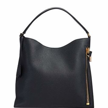 TOM FORD Alix Small Calfskin Shoulder Bag