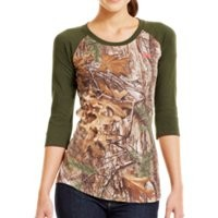 Under Armour Women's Charged Cotton® Camo ¾ T-Shirt
