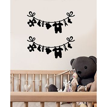 Vinyl Wall Decal Baby Children's Room Laundry Room Decor Stickers (4013ig)