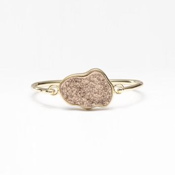 Rustic Cuff Presile- Blush and Gold