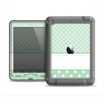 The Vintage Light Green Polka Dot With White Strip copy Apple iPad Air LifeProof Nuud Case Skin Set