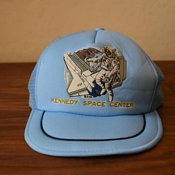 Vintage Snapback Trucker Hat Kennedy Space Center