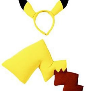 Pokemon Pikachu Tail And Ears Costume Kit - 128833