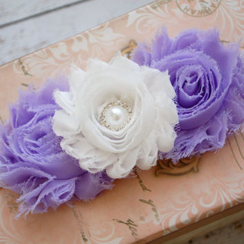 Lavender Baby Headband.Baby Headband.Purple Headband.Newborn Headband.Infant Headband.Baby Girl Headband.Photo Prop.Baby Girl Bow.Hair Bow