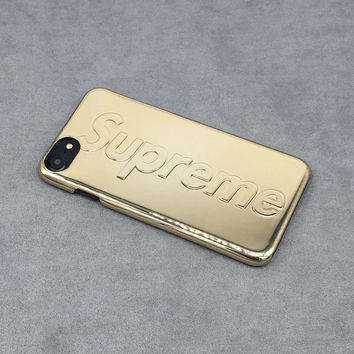 Luxury shockproof Supreme 3d Gold Phone Case for iPhone 7 7+