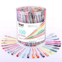 Smart Color Art - 100 Pcs Gel Pen Set | Colors Included: Classic Glitter, Neon, Standard, Milky, Swirl & Metallic | for Coloring, Sketching, Drawing, Painting , Writing & Custom Artistic Creations!