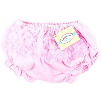 Light Pink Cotton Baby Bloomers with Ruffles   Hobby Lobby   217786
