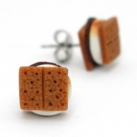 Gimme S'More - Smores Stud Earrings - Whimsical & Unique Gift Ideas for the Coolest Gift Givers